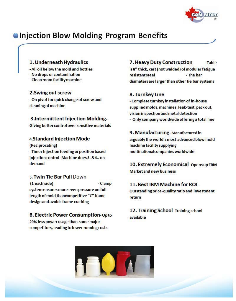 Injection Blow Molding Equipment | Pet All Manufacturing Inc